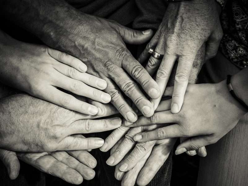 All hands come together to make us stronger - thanks to Southern Forests Arts' partners and supporters