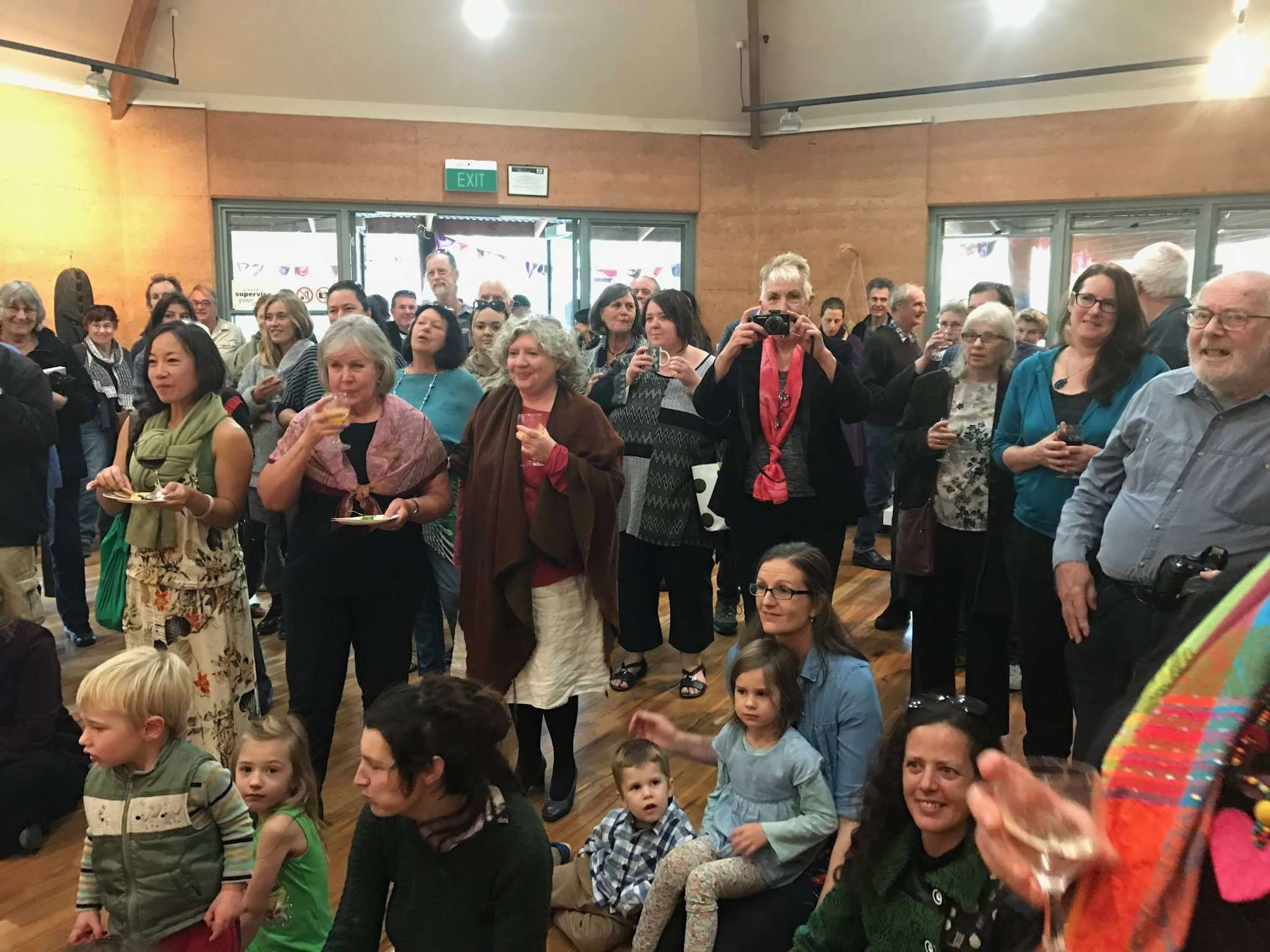 Nic Sinclair's 'Bloodlines' book launch drew a big crowd at the painted Tree Gallery, Northcliffe, 2016, presented by Southern Forest Arts