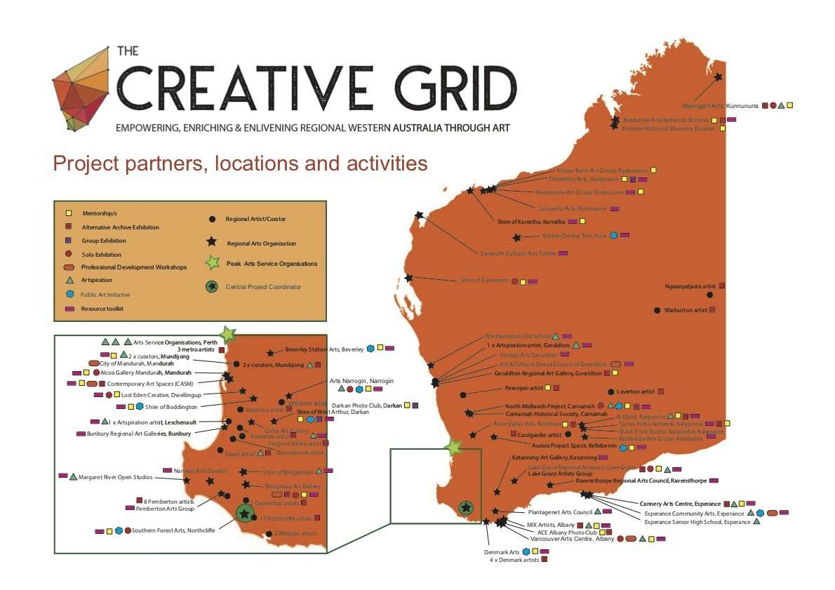 Creative Grid - Map of project partners, locations & activities (Nov 2019) high res