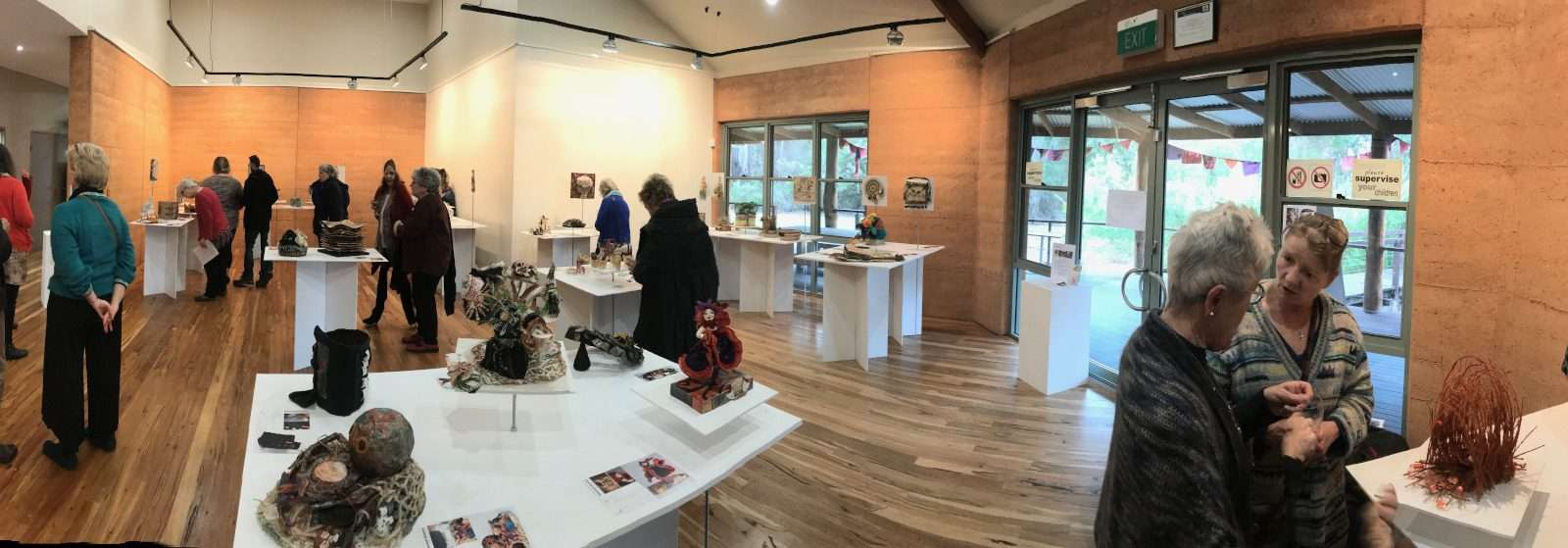 WAFTA exhibition panorama 2018 Painted tree gallery by Southern Forest Arts
