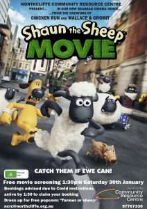 Northcliffe Film Club screening - January 2021, Shaun the Sheep, presented by Southern Forest Arts and Northcliffe Community Resource Centre
