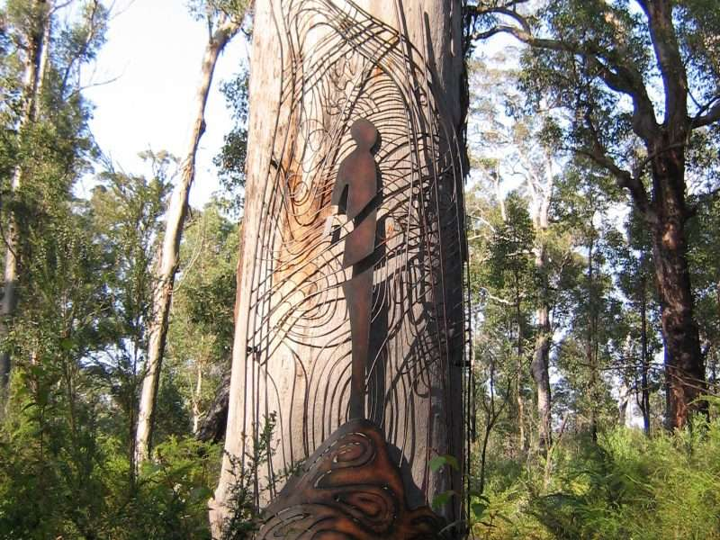 Written on the Wind by Norma Macdonald, Understory Art & Nature Trail, Northcliffe, commissioned in 2006 by Southern Forest Arts - Photo by Nic Sinclair