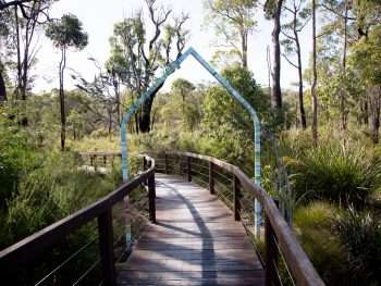 'Archway' by Kevin Draper - entry artwork to the Understory Art & Nature Trail, Northcliffe, commissioned by Southern Forest Arts in 2006