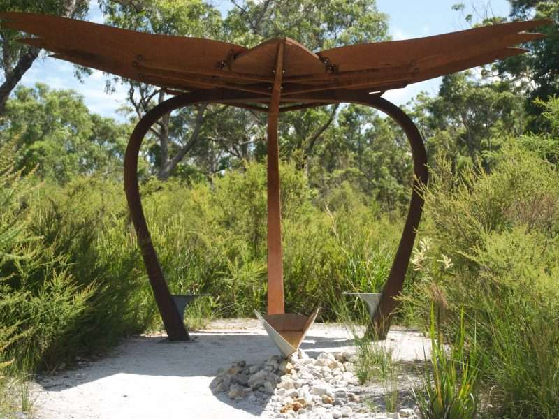 'Cascading Shelte' by Tony Pankiw, Understory Art & Nature Trail, Northcliffe, commissioned by Southern Forest Arts in 2006