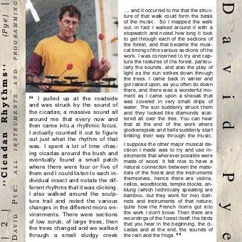 Canopy CD - David Pye - Cicadian Rhythms