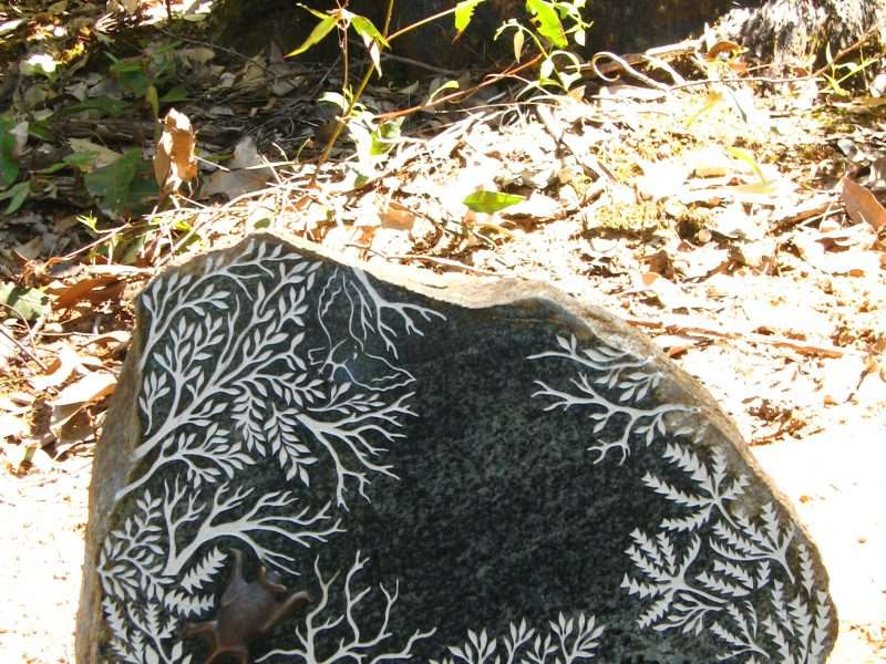 'Forest Stones - Bat Nook' by Kati Thamo, Understory Art & Nature Trail, Northcliffe, Photo by Kati Thamo