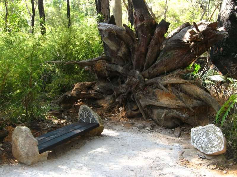 'Forest Stones - Lizard Nook' (2) by Kati Thamo, Understory Art & Nature Trail, Northcliffe, Photo by Kati Thamo