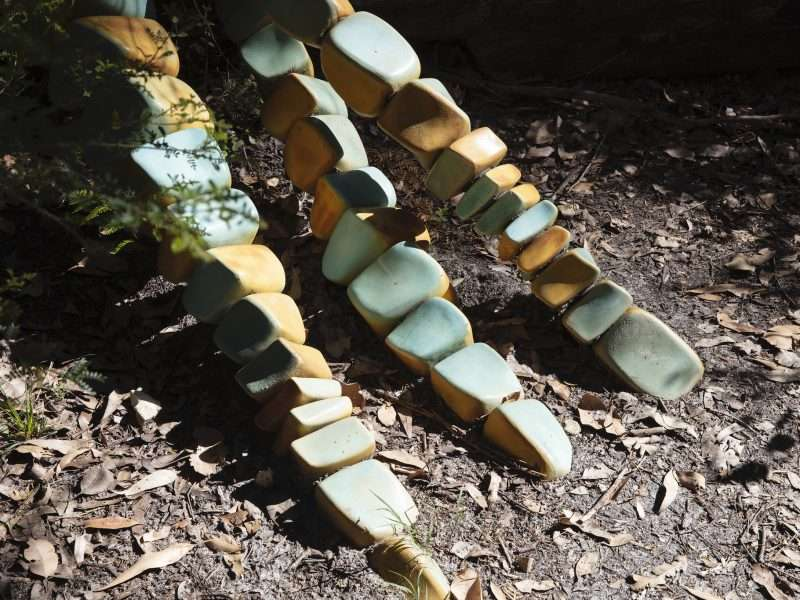 Metameres by Ian Dowling (2012) Understory Art & Nature Trail, Northcliffe, commissioned by Southern Forest Arts in 2006, Photo by Bo Wong (2020)