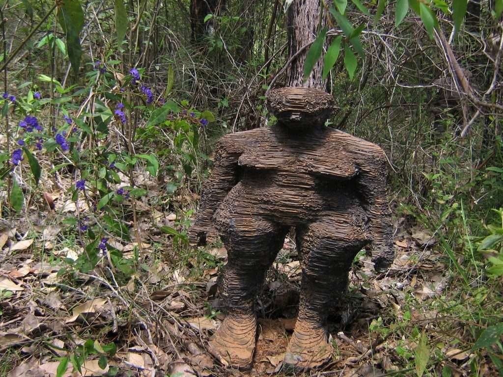 Richie Kahaupt's 'Forest Folk' on the Understory Art & Nature Trail in Northcliffe