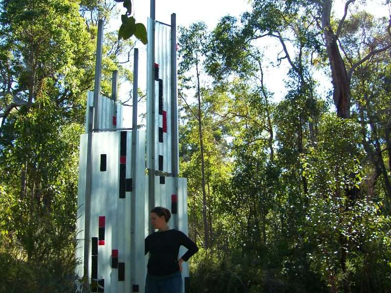 'Shades of Grey' by Duke Albada, Understory Art & Nature trail, Northcliffe, WA, commissioned in 2006 by Southern Forest Arts