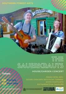 The Sauerkrauts playing at a house concert in Northcliffe- March 2021