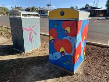 Blooming Wild bins project update April 2021 Northcliffe by Southern Forest Arts