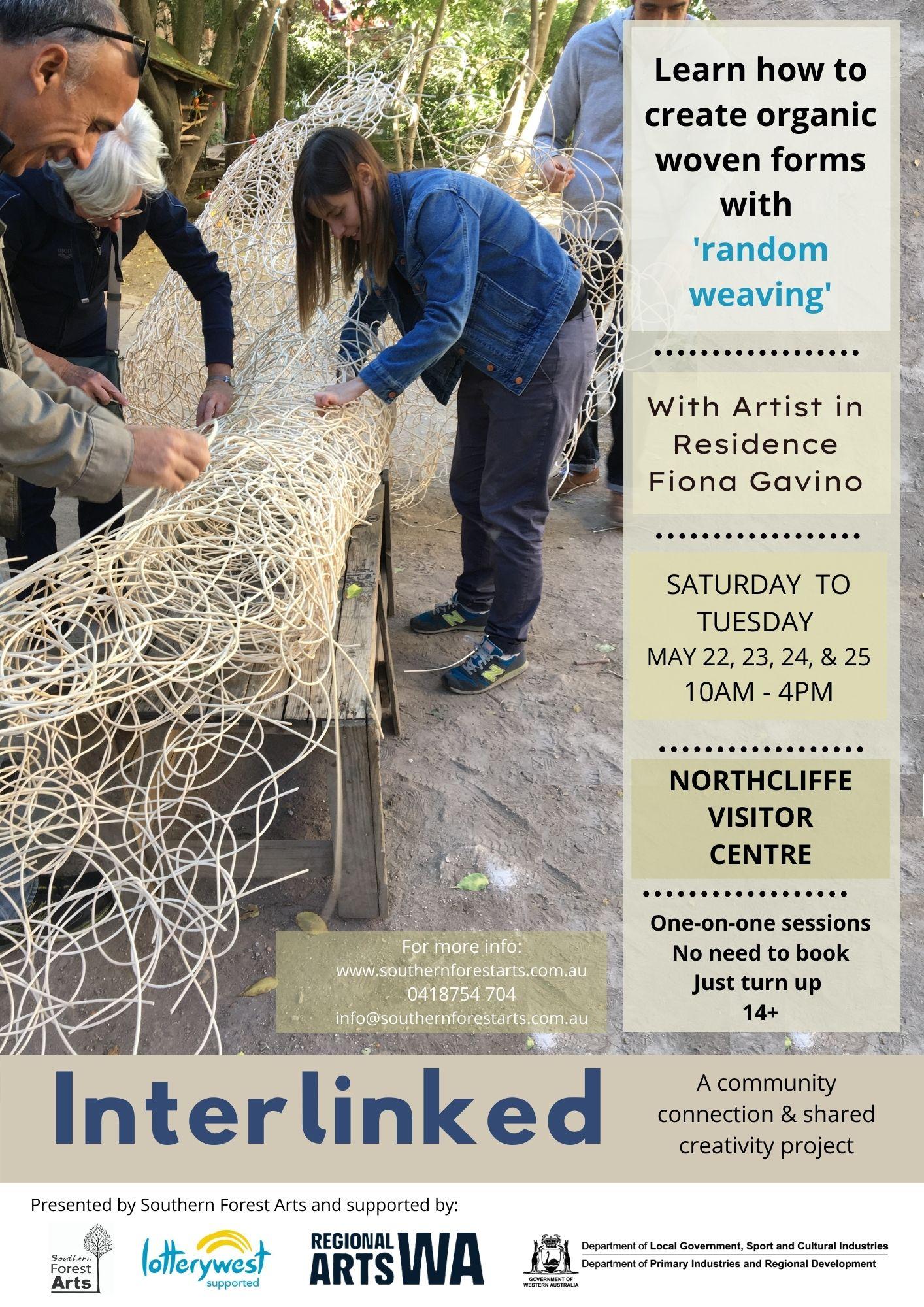 Interlinked Project - Random Weaving with Fiona Gavino