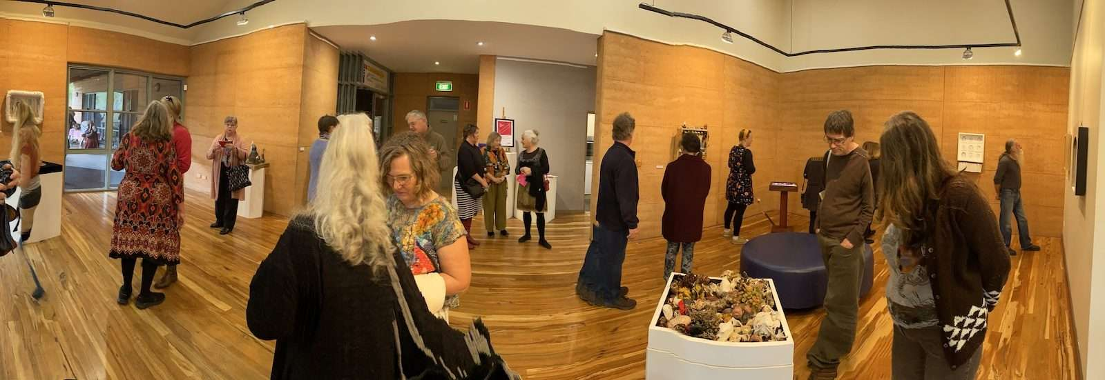 The Alternative Archive - MIx exhibition opening, Painted Tree Gallery (panorama), Southern Forest Art, Northcliffe