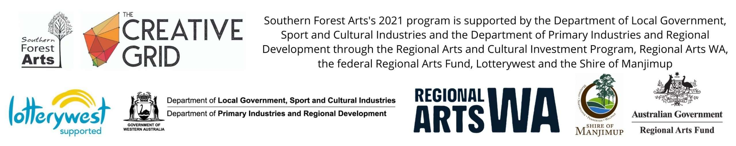 Southern Forest Arts program partners in 2021