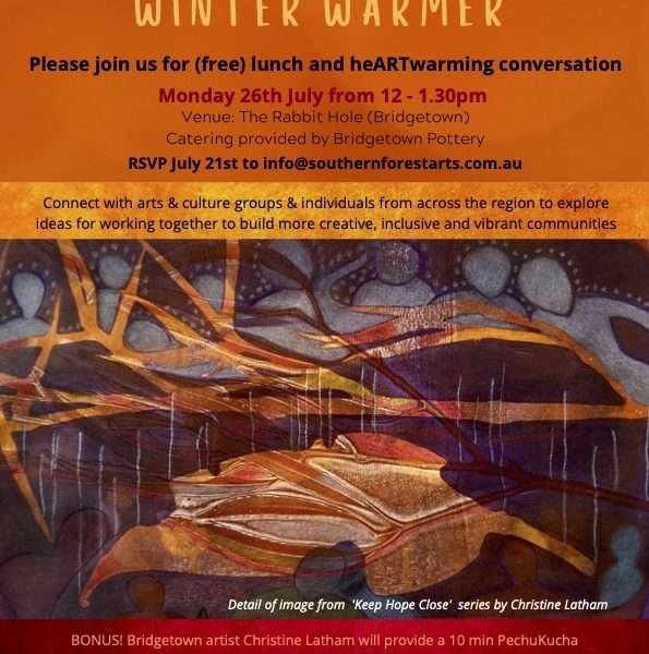SF&V Arts & Culture Winter Warmer by Southern Forest Arts 2021