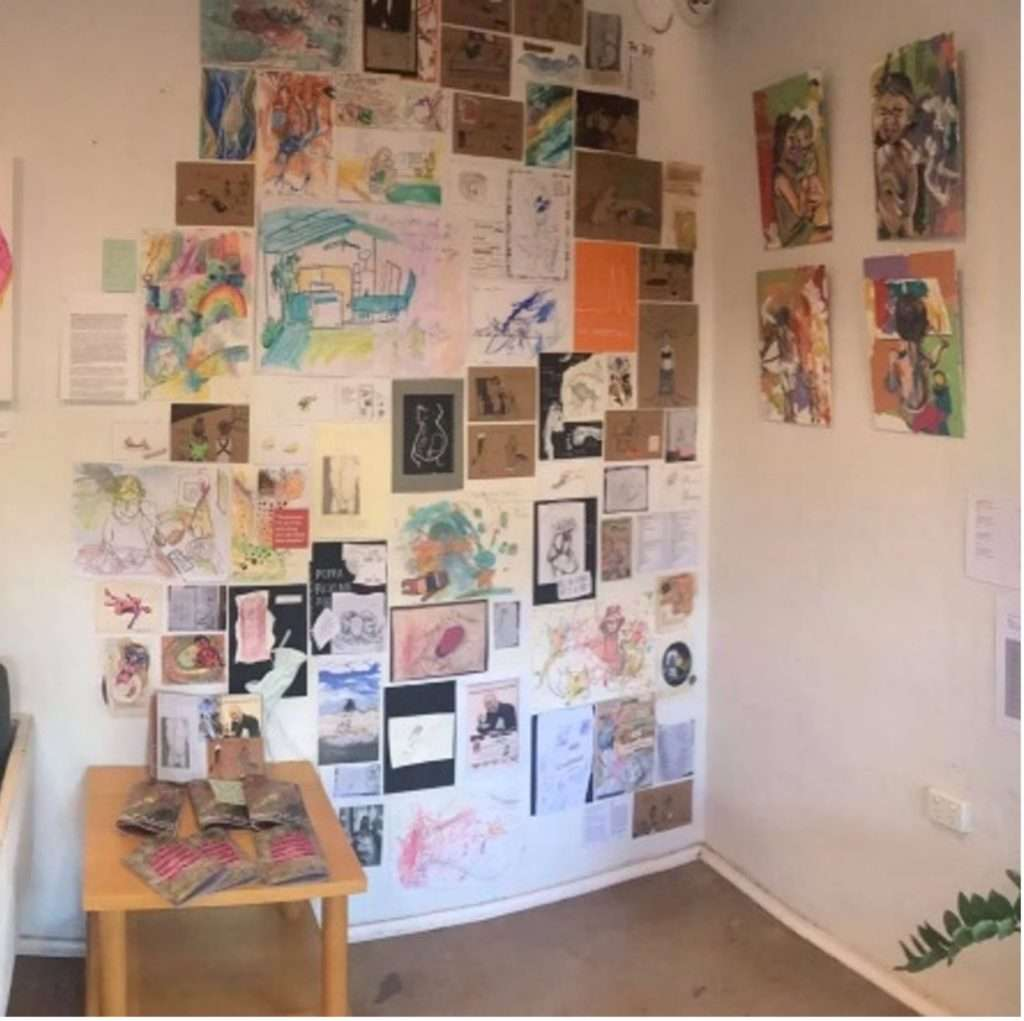 The zine wall at Mother Lode
