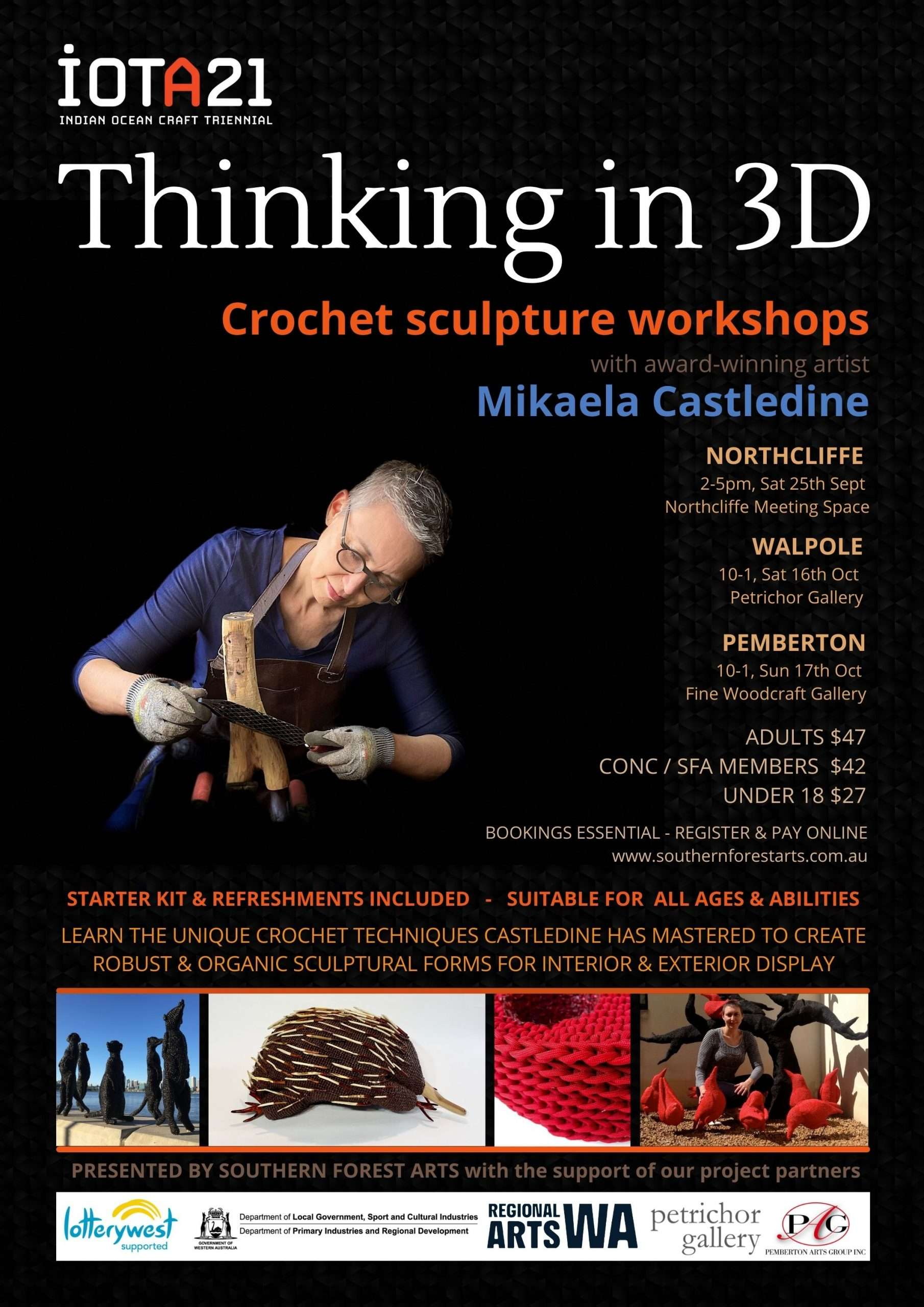 Thinking in 3D workshop with Mikaela Castledine